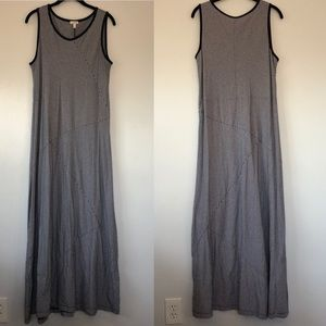 Talbots 1X maxi dress Navy/White